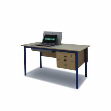 Biurko nauczycielskie ze skrytką na laptopa; dziennik elektroniczny