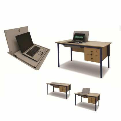 Biurko ze skrytką na laptopa; biurko komputerowe