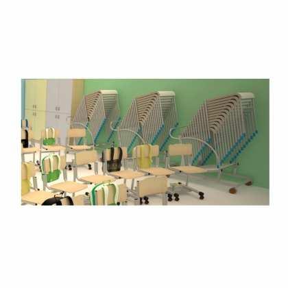 stolik szkolny jednoosobowy blat z laminatu HPL