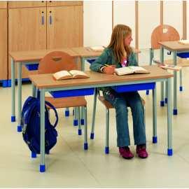 Stolik 2-osobowy z półką blat z laminatu obrzeże drewniane